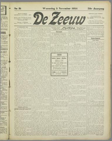 De Zeeuw. Christelijk-historisch nieuwsblad voor Zeeland 1924-11-05