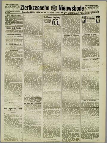 Zierikzeesche Nieuwsbode 1924-11-19