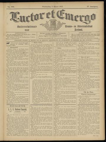 Luctor et Emergo. Antirevolutionair nieuws- en advertentieblad voor Zeeland / Zeeuwsch-Vlaanderen. Orgaan ter verspreiding van de christelijke beginselen in Zeeuwsch-Vlaanderen 1913-03-05