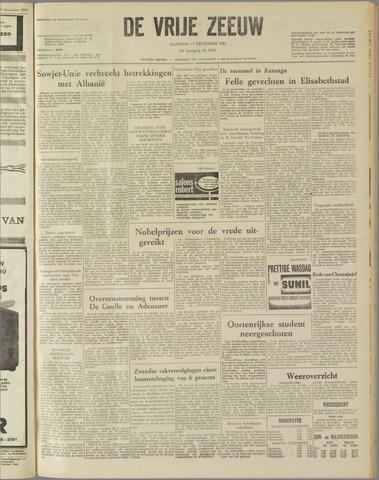 de Vrije Zeeuw 1961-12-11