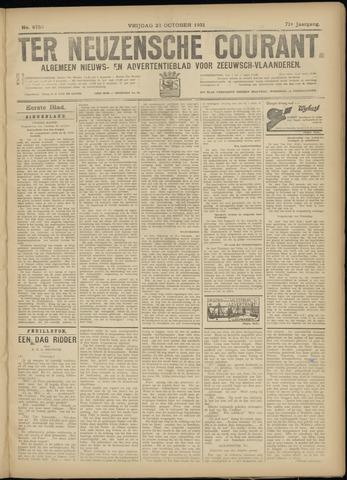 Ter Neuzensche Courant. Algemeen Nieuws- en Advertentieblad voor Zeeuwsch-Vlaanderen / Neuzensche Courant ... (idem) / (Algemeen) nieuws en advertentieblad voor Zeeuwsch-Vlaanderen 1931-10-23