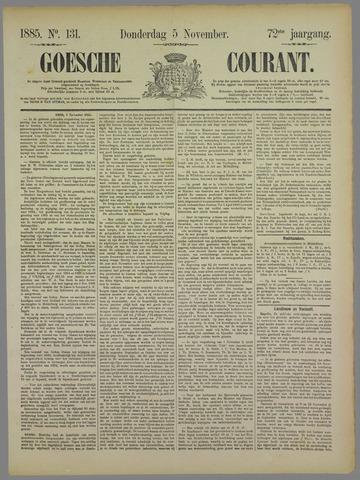 Goessche Courant 1885-11-05