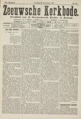 Zeeuwsche kerkbode, weekblad gewijd aan de belangen der gereformeerde kerken/ Zeeuwsch kerkblad 1916-12-29