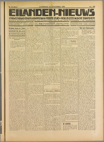 Eilanden-nieuws. Christelijk streekblad op gereformeerde grondslag 1936-11-28