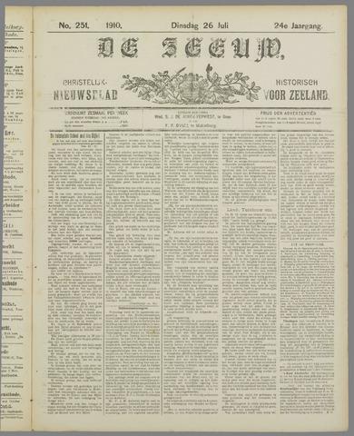 De Zeeuw. Christelijk-historisch nieuwsblad voor Zeeland 1910-07-26