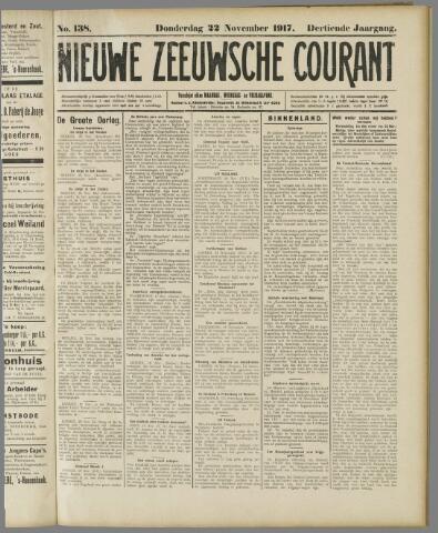 Nieuwe Zeeuwsche Courant 1917-11-22