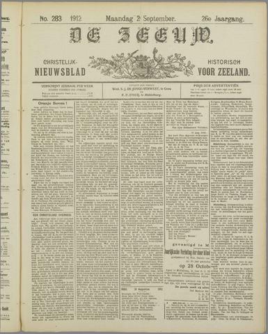 De Zeeuw. Christelijk-historisch nieuwsblad voor Zeeland 1912-09-02