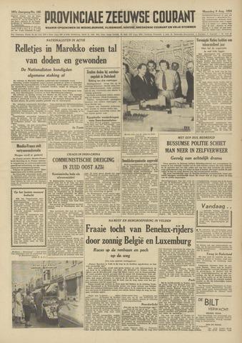 Provinciale Zeeuwse Courant 1954-08-09