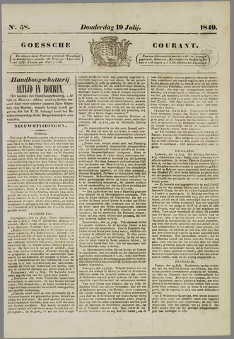 Goessche Courant 1849-07-19