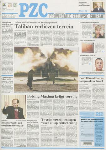 Provinciale Zeeuwse Courant 2001-11-20