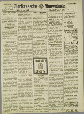 Zierikzeesche Nieuwsbode 1926-01-29