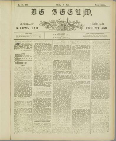 De Zeeuw. Christelijk-historisch nieuwsblad voor Zeeland 1896-04-18