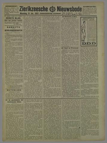 Zierikzeesche Nieuwsbode 1923-01-15