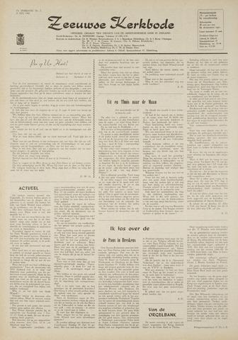 Zeeuwsche kerkbode, weekblad gewijd aan de belangen der gereformeerde kerken/ Zeeuwsch kerkblad 1969-07-31