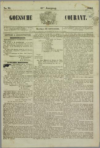 Goessche Courant 1854-09-11