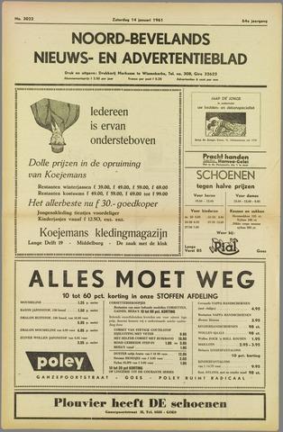 Noord-Bevelands Nieuws- en advertentieblad 1961-01-14