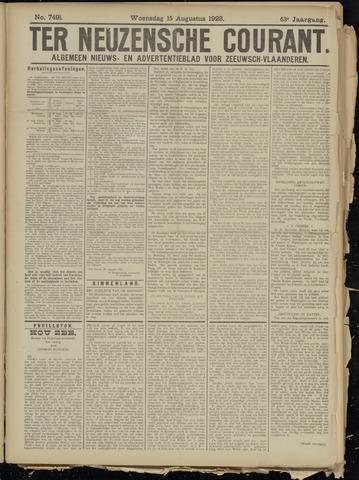Ter Neuzensche Courant. Algemeen Nieuws- en Advertentieblad voor Zeeuwsch-Vlaanderen / Neuzensche Courant ... (idem) / (Algemeen) nieuws en advertentieblad voor Zeeuwsch-Vlaanderen 1923-08-15