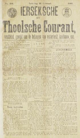 Ierseksche en Thoolsche Courant 1889-02-16