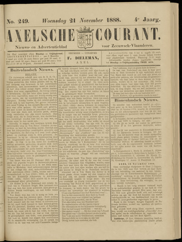Axelsche Courant 1888-11-21