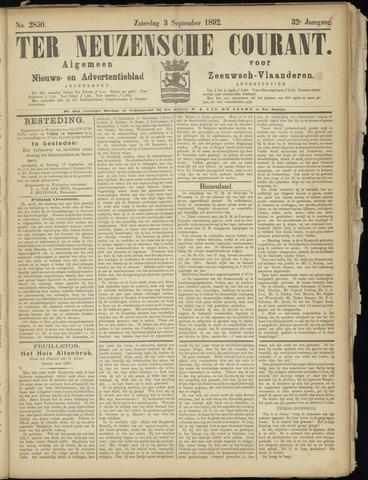 Ter Neuzensche Courant. Algemeen Nieuws- en Advertentieblad voor Zeeuwsch-Vlaanderen / Neuzensche Courant ... (idem) / (Algemeen) nieuws en advertentieblad voor Zeeuwsch-Vlaanderen 1892-09-03