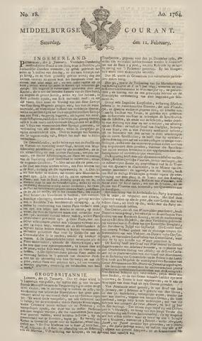 Middelburgsche Courant 1764-02-11