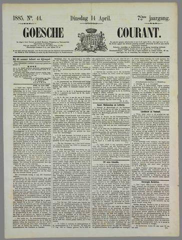 Goessche Courant 1885-04-14