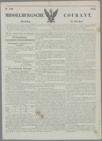Middelburgsche Courant 1854-10-21