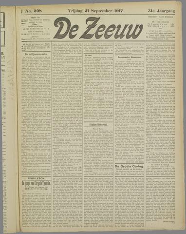 De Zeeuw. Christelijk-historisch nieuwsblad voor Zeeland 1917-09-21