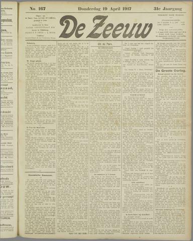 De Zeeuw. Christelijk-historisch nieuwsblad voor Zeeland 1917-04-19