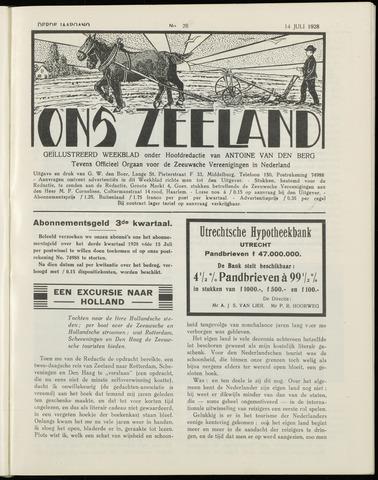 Ons Zeeland / Zeeuwsche editie 1928-07-14