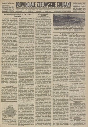 Provinciale Zeeuwse Courant 1942-07-17