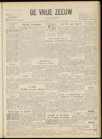 de Vrije Zeeuw 1957-02-11