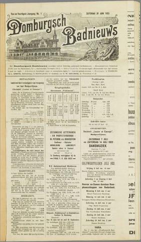 Domburgsch Badnieuws 1923
