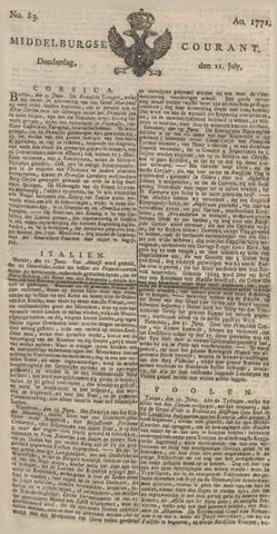 Middelburgsche Courant 1771-07-11