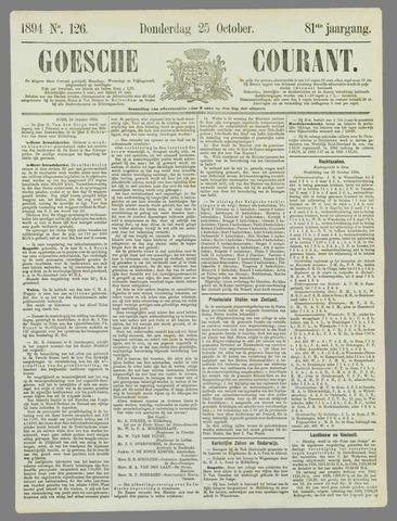 Goessche Courant 1894-10-25