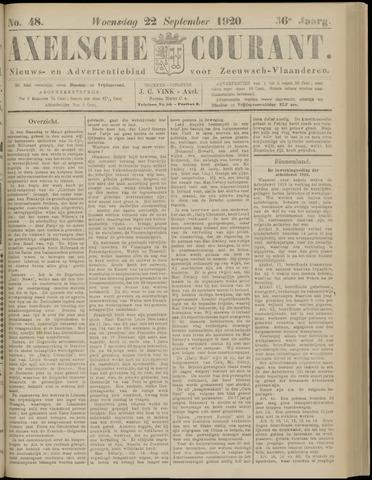 Axelsche Courant 1920-09-22