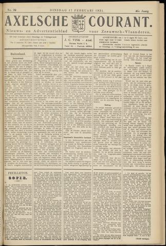 Axelsche Courant 1931-02-17