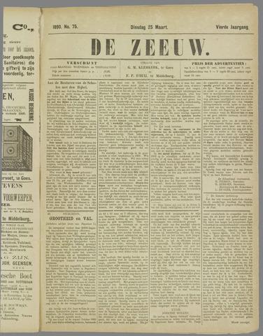 De Zeeuw. Christelijk-historisch nieuwsblad voor Zeeland 1890-03-25