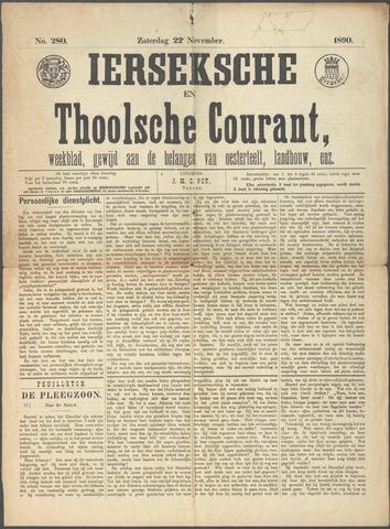 Ierseksche en Thoolsche Courant 1890-11-22