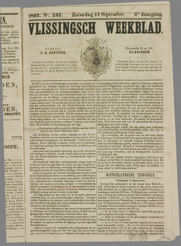 Vlissings Weekblad 1867-09-14