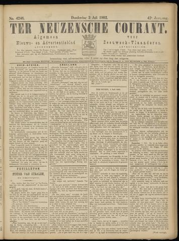 Ter Neuzensche Courant. Algemeen Nieuws- en Advertentieblad voor Zeeuwsch-Vlaanderen / Neuzensche Courant ... (idem) / (Algemeen) nieuws en advertentieblad voor Zeeuwsch-Vlaanderen 1902-07-03