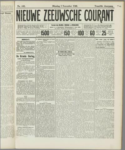 Nieuwe Zeeuwsche Courant 1916-11-07