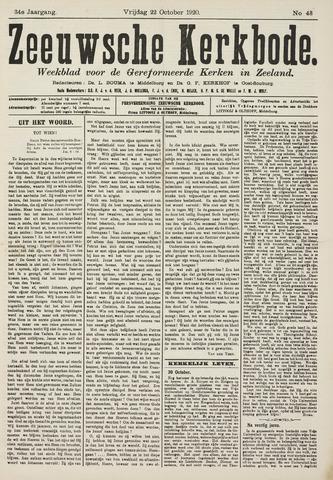 Zeeuwsche kerkbode, weekblad gewijd aan de belangen der gereformeerde kerken/ Zeeuwsch kerkblad 1920-10-22