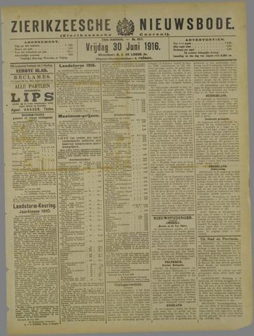 Zierikzeesche Nieuwsbode 1916-06-30