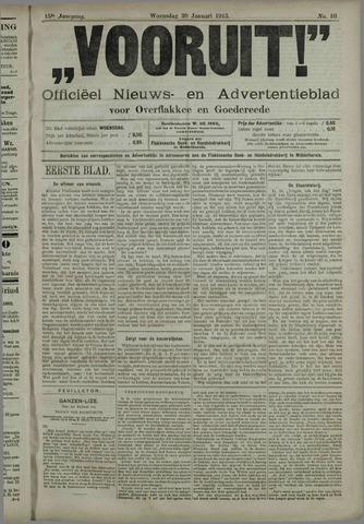 """""""Vooruit!""""Officieel Nieuws- en Advertentieblad voor Overflakkee en Goedereede 1915-01-20"""
