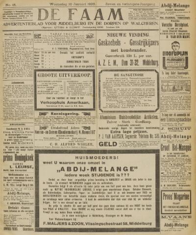de Faam en de Faam/de Vlissinger 1923-01-10