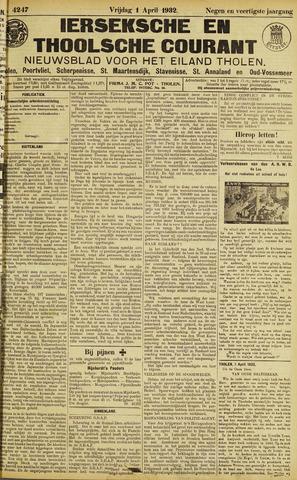 Ierseksche en Thoolsche Courant 1932-04-01