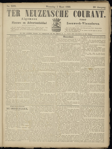 Ter Neuzensche Courant. Algemeen Nieuws- en Advertentieblad voor Zeeuwsch-Vlaanderen / Neuzensche Courant ... (idem) / (Algemeen) nieuws en advertentieblad voor Zeeuwsch-Vlaanderen 1890-03-05
