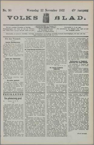Volksblad 1922-11-22