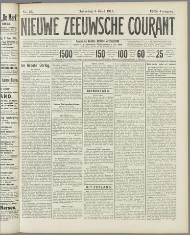 Nieuwe Zeeuwsche Courant 1915-06-05